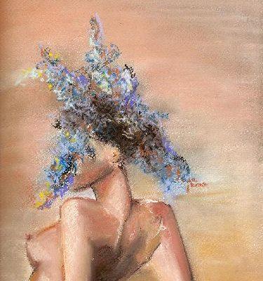 Virágfürtös akt